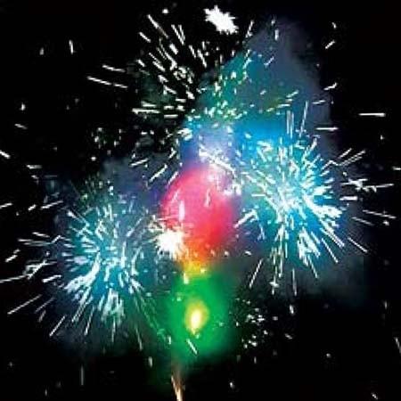 Фейерверк Мир для двоих - цветной фонтан