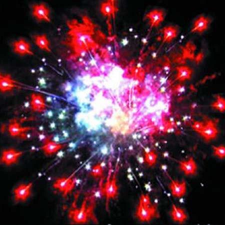 Фейерверк салют На Новый год - 36 залпов
