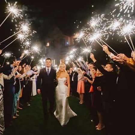 Длинные бенгальские огни на свадьбу 65 см