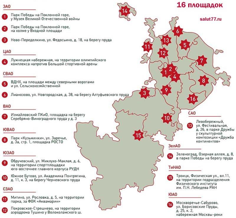 Схема салюта в москве