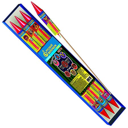 Фейерверки набор ракет Ассорти 6 шт