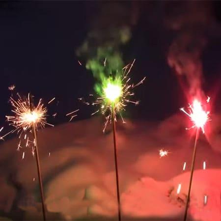 Цветные бенгальские огни 30 см 3 шт