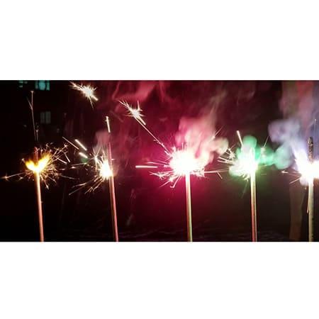 Цветные бенгальские огни 40 см